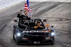 Josef Newgarden and Ryan Hunter-Reay of Team USA