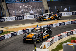 Petter Solberg and Joel Eriksson driving the Whelen NASCAR