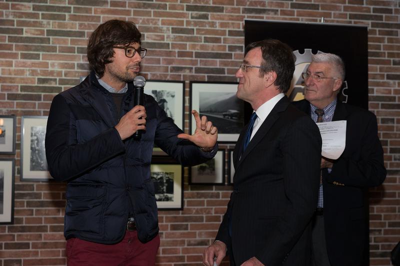 Ronnie Kessel con Roberto Gurian alla premiazione ACS 2017