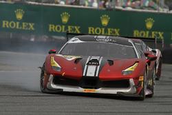 #10 Ferrari of Vancouver Ferrari 488: Murray Rothlander crash