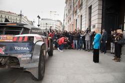 Carlos Sainz, Lucas Cruz, Peugeot Sport, Cristina Cifuentes, Presidente della Comunità di Madrid