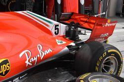 Ferrari SF71H, dettaglio del retrotreno