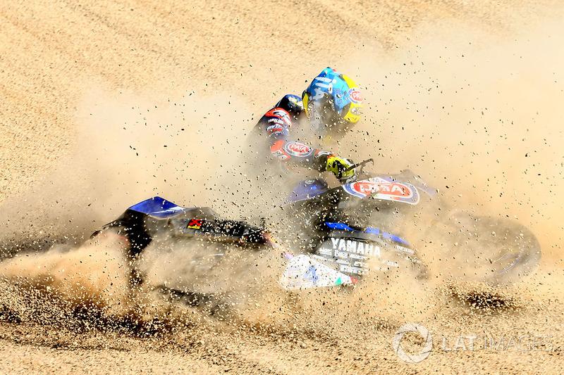 """2. Un buen """"camuflaje"""" en la prueba del World Superbike en Imola. Federico Caricasulo, del GRT Yamaha"""