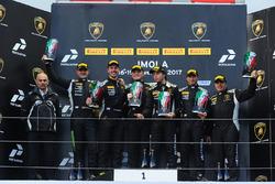 Podium Pro-AM: first place Edoardo Piscopo, Taylor Proto, US RaceTronics, second place Niels Lagrange, Pieter Vanneste, Leipert Motorsport, third place Brandon Gdovic, Emmanuel Anassis, DAC Motorsport