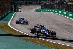 Marcus Ericsson, Sauber C36 en Pascal Wehrlein, Sauber C36