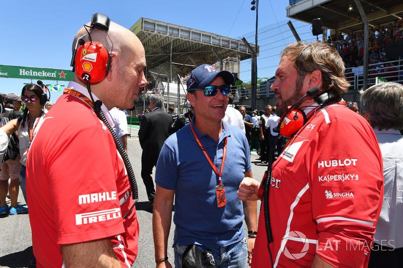 Jock Clear, Ferrari jefe de ingenieros Rubens Barrichello, Gino Rosato, Ferrari