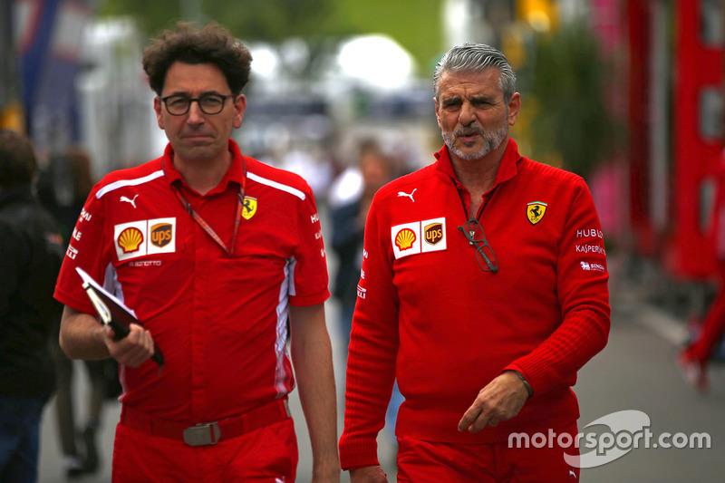 Maurizio Arrivabene, Ferrari, ve Mattia Binotto, Ferrari