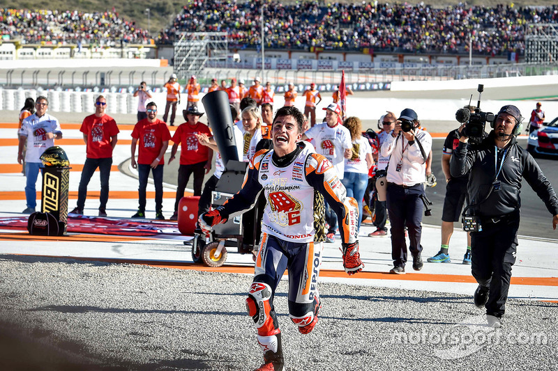 World champion Marc Marquez, Repsol Honda Team celebrate
