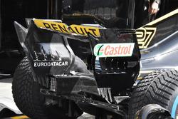 Detalle del alerón trasero del Renault Sport F1 Team R.S. 18