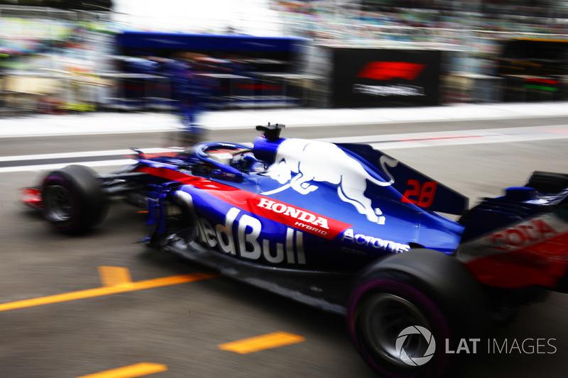 Brendon Hartley, Toro Rosso STR13 Honda, lascia il garage