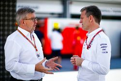 Ross Brawn, Managing Director of Motorsports, FOM, and James Allison, Technical Director, Mercedes A