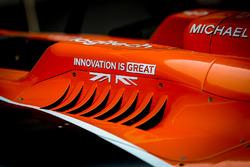 Bodywork and aero detail of McLaren MCL32