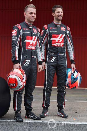 Kevin Magnussen en Romain Grosjean, Haas F1 Team