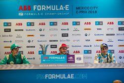 Победитель Даниэль Абт, Audi Sport ABT Schaeffler, Оливер Тёрви, NIO Formula E Team, и Себастьен Буэ
