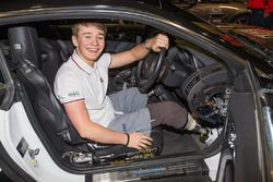 Billy Monger preparing to go into the Live Action Arena with Terry Grant