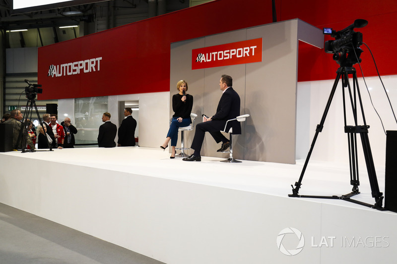 Susie Wolff talks to Henry Hope-Frost on the Autosport Stage