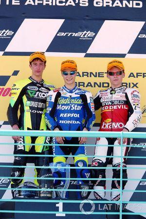 Podium: 1. Dani Pedrosa, 2. Andrea Dovizioso, 3. Steve Jenkner