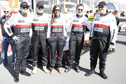 #1 Hofor-Racing Mercedes-AMG GT3: Michael Kroll, Chantal Kroll, Roland Eggimann, Kenneth Heyer, Chri