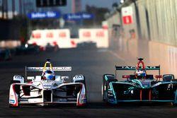 Nick Heidfeld, Mahindra Racing, lotta con Mitch Evans, Jaguar Racing