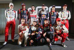 Групповое фото пилотов WRC 2018 года