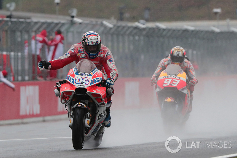 Race winner Andrea Dovizioso, Ducati Team, second place Marc Marquez, Repsol Honda Team