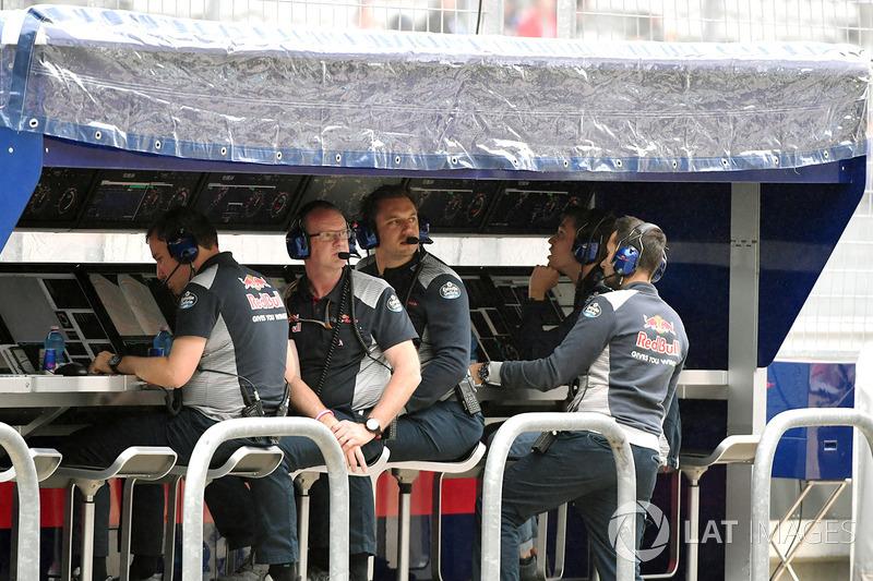 Scuderia Toro Rosso pit duvarı