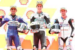 Pole, Joan Mir, Leopard Racing, Segundo, Jorge Martin, Del Conca Gresini Racing Moto3, tercero, John McPhee, British Talent Team