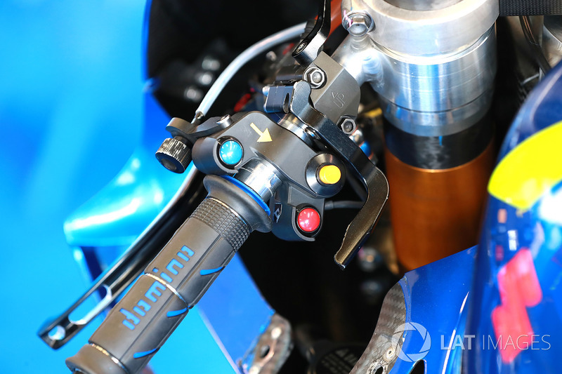 Alex Rins, Team Suzuki MotoGP, thumb operarted rear brake lraver