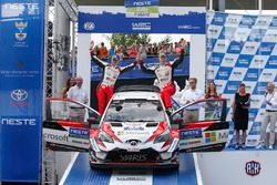 Tercer lugar Jari-Matti Latvala, Miikka Anttila, Toyota Yaris WRC, Toyota Gazoo Racing