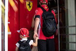 Kimi Raikkonen, Ferrari with son Robin Raikkonen
