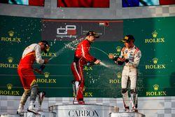 Podio: Leonardo Pulcini, Campos Racing, Nikita Mazepin, ART Grand Prix, Anthoine Hubert, ART Grand Prix