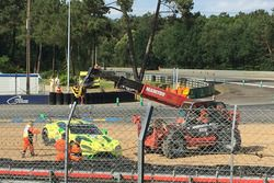 #97 Aston Martin Racing Aston Martin Vantage AMR: Alex Lynn, Maxime Martin, Jonathan Adams in the gravel