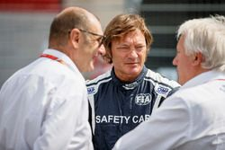 Charlie Whiting, Race Director, FIA, Bruno Michel, and Marco Codello