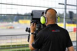 A TV cameraman at work