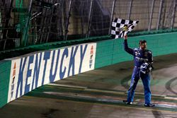 Martin Truex Jr., Furniture Row Racing, Toyota Camry Auto-Owners Insurance celebrates his win