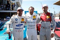 Top 3 after qualifying: Pole position for Gary Paffett, Mercedes-AMG Team HWA, Philipp Eng, BMW Team RBM, René Rast, Audi Sport Team Rosberg