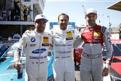 Top 3 after qualifying: Pole position for Gary Paffett, Mercedes-AMG Team HWA, Philipp Eng, BMW Team RBM, René Rast, Audi Sport Team Rosberg