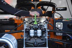 McLaren MCL33, dettaglio della sospensione anteriore