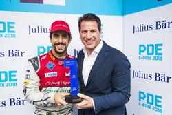 Lucas di Grassi, Audi Sport ABT Schaeffler, receives the Pole Position award