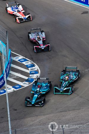 Luca Filippi, NIO Formula E Team, Nelson Piquet Jr., Jaguar Racing, Edoardo Mortara, Venturi Formula