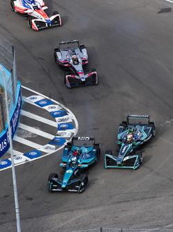 Luca Filippi, NIO Formula E Team, Nelson Piquet Jr., Jaguar Racing, Edoardo Mortara, Venturi Formula E Team e Felix Rosenqvist, Mahindra Racing