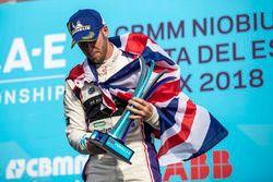 Sam Bird, DS Virgin Racing, sul podio