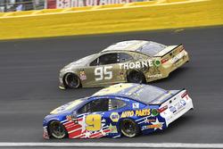 Kasey Kahne, Leavine Family Racing, Chevrolet Camaro Thorne, Chase Elliott, Hendrick Motorsports, Chevrolet Camaro NAPA AUTO PARTS Patriotic