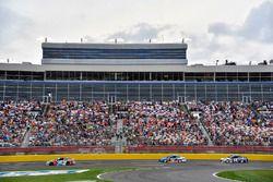 Kyle Busch, Joe Gibbs Racing, Toyota Camry NOS Energy Drink leads