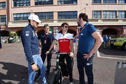 Esteban Ocon, Force India F1 y Charles Leclerc, Sauber