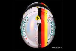 Kask Sebastiana Vettela, Ferrari, przygotowany specjalnie na GP Monako
