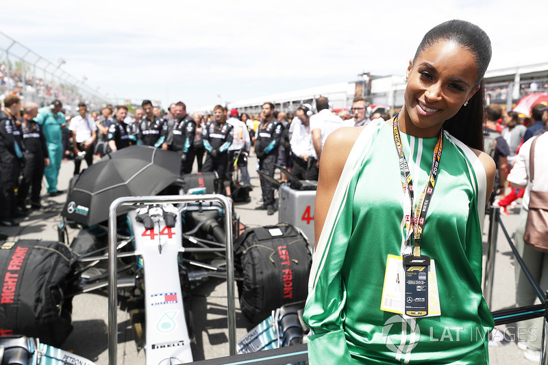 Singer Ciara on the grid