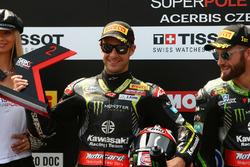 Jonathan Rea, Kawasaki Racing second in super pole
