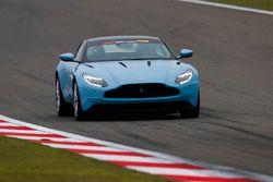 An Aston Martin DB11 is driven on Pirelli Hot Laps