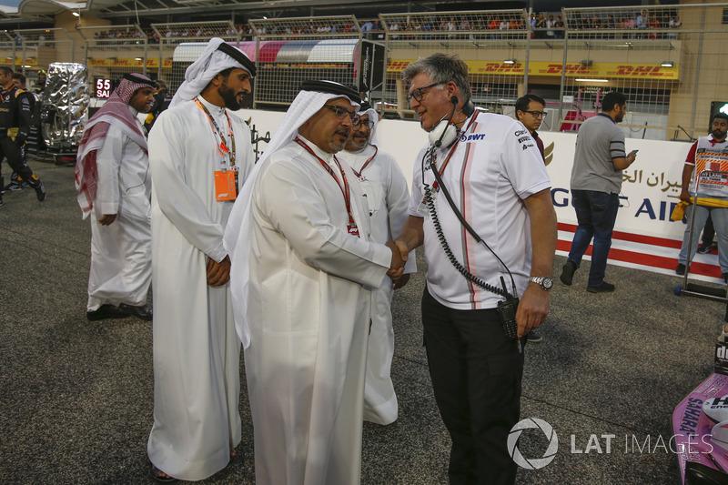 Crown Prince Shaikh Salman bin Hamad Al Khalifa, and Otmar Szafnauer, Force India Formula One Team C